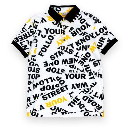 Поло Gulliver, размер 170, белый платье oodji ultra цвет красный белый 14001071 13 46148 4512s размер xs 42 170