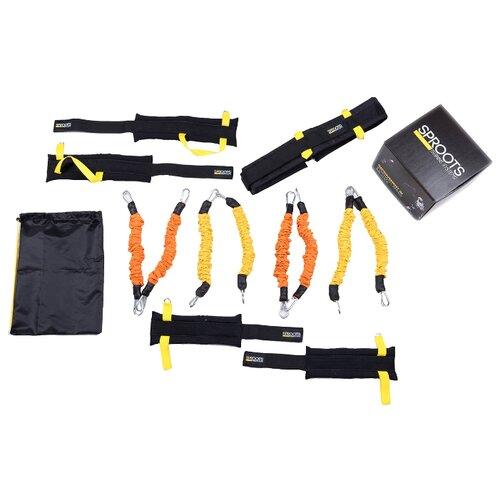 Эспандер для лыжника (боксера, пловца) SPROOTS Mini Puncher черный/желтый эспандер для лыжника боксера пловца starfit es 901 6 кг 220 см синий черный