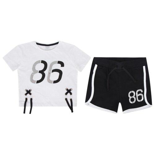 Купить Комплект одежды Leader Kids размер 134, белый/черный, Комплекты и форма