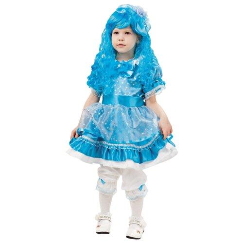 Купить Костюм пуговка Кукла Мальвина (2000 к-18), голубой, размер 116, Карнавальные костюмы