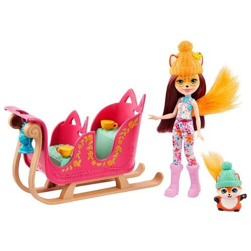 Купить Игровой набор Mattel Enchantimals Рождественские сани GJX31, Игровые наборы и фигурки