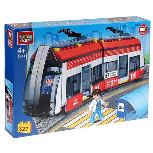 Купить Конструктор ГОРОД МАСТЕРОВ Городской транспорт 5541 Новый трамвай, Конструкторы