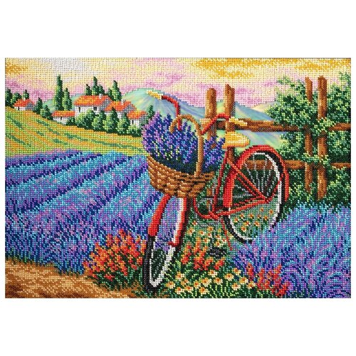 Купить Радуга бисера Набор для вышивания бисером Запах лаванды 27 х 38 см (В-288), Наборы для вышивания