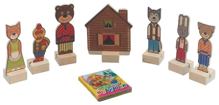 Краснокамская игрушка Кукольный театр из дерева Заюшкина избушка (H-68) — цены на Яндекс.Маркете
