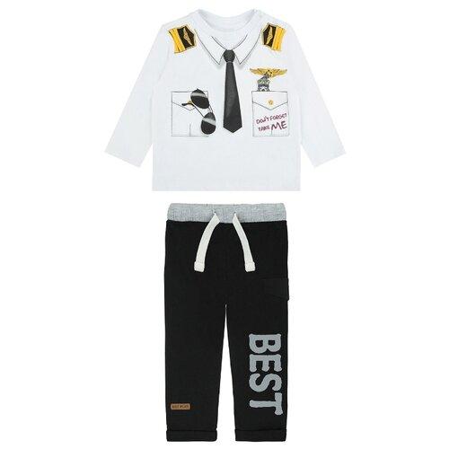 Комплект одежды Pixo размер 80, белый/черный