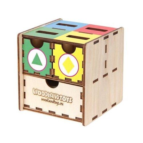 Сортер Woodland Комодик куб Фигуры цвет 119102 фото