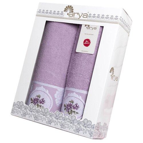 Arya Набор полотенец Rosalina банное лиловый