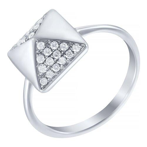 JV Кольцо с 28 бриллиантами из белого золота AAS-3990R-KO-WG, размер 17.5