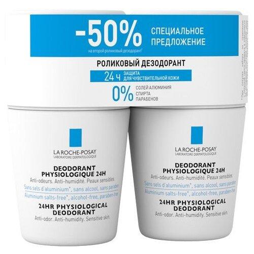 La Roche-Posay Physiological дезодорант, ролик, 24 ч (2 шт), 50 мл