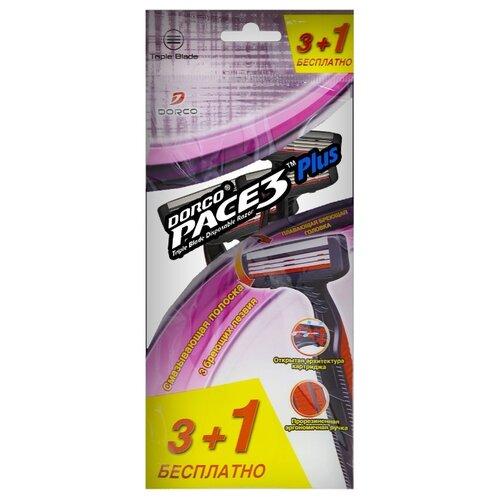 Фото - Бритвенный станок Dorco Pace 3 Plus (одноразовый) ,красно-черный, 4 шт. бритвенный станок dorco tr a200