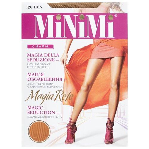 Колготки MiNiMi Magia Rete 20 den, размер 3-M, daino (бежевый) колготки minimi tulle magico 20 den размер 3 m daino бежевый