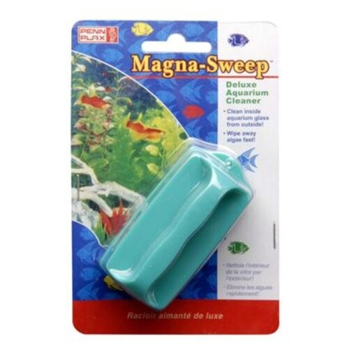 Скребок для аквариума Penn-Plax MAGNA-SWEEP средний голубой penn plax переноска клетка penn plax для грызунов и птиц большая