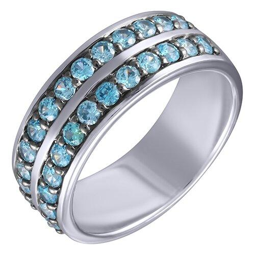 ELEMENT47 Кольцо из серебра 925 пробы с кубическим цирконием AR2558BZBR_KO_001_WG, размер 18