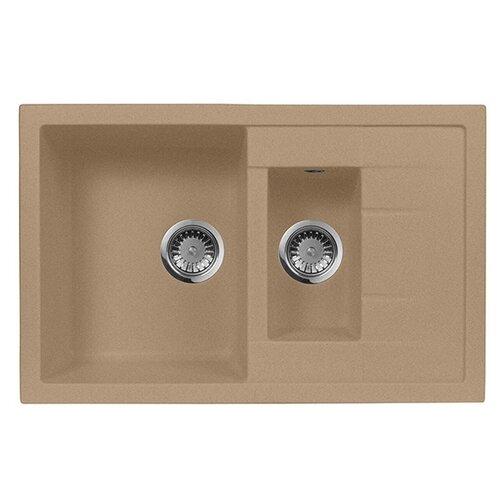 Фото - Врезная кухонная мойка 78 см А-Гранит M-21K песочный врезная кухонная мойка 61 см а гранит m 09 песочный