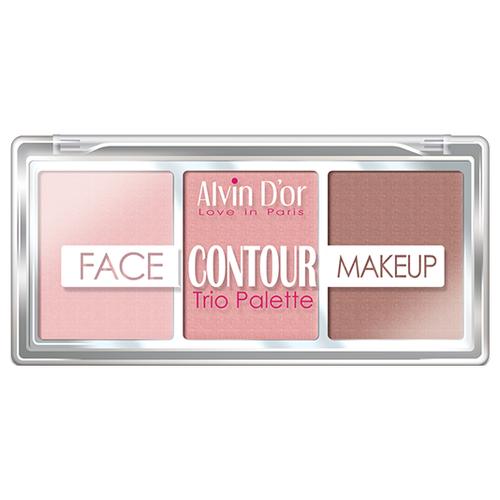 Alvin Dor Палетка для контурирования Face Contour Makeup Trio Palette 01 light