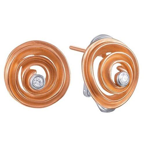 JV Золотые серьги с бриллиантами AAS-3830E-SR-VR