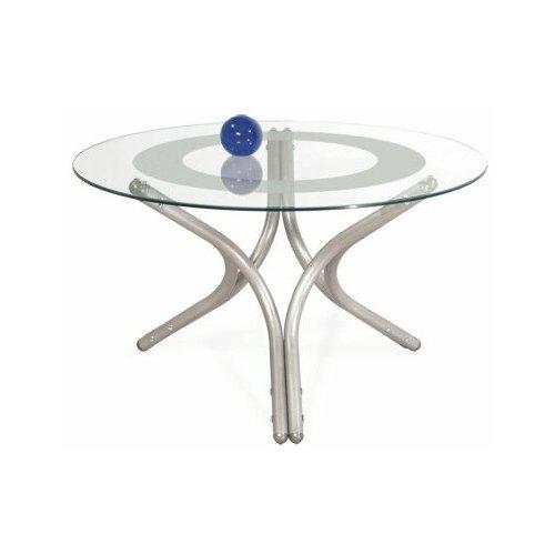 Фото - Стол журнальный Дуэт 6 металлик/ прозрачное стол журнальный дуэт 6 металлик прозрачное