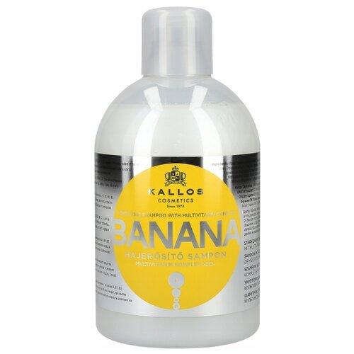 Купить Kallos шампунь Banana с мультивитаминным комплексом для повреждённых волос 1000 мл