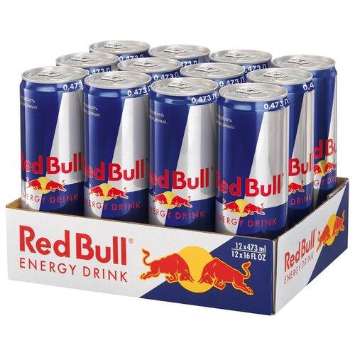 Энергетический напиток Red Bull, 0.473 л, 12 шт. drive me энергетический напиток 0 5 л