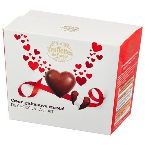 Зефир Truffettes de France в форме сердечек в молочном шоколаде 200 г