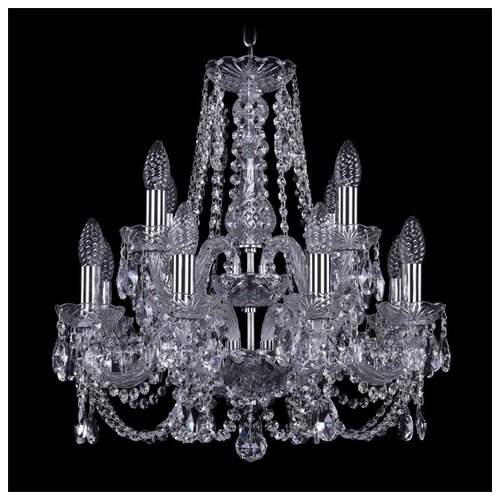 Люстра Bohemia Ivele Crystal 1406 1406/8+4/160/2d/Ni, E14, 480 Вт bohemia ivele crystal 1406 16 8 4 400 160 2d g