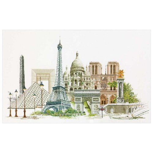 Thea Gouverneur Набор для вышивания Париж 79 х 50 см (472А) thea gouverneur набор для вышивания санкт петербург 50 х 79 см 430а