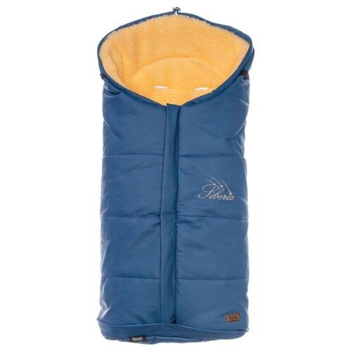 Купить Конверт-мешок Nuovita Siberia Lux Pesco меховой 90 см темно-синий, Конверты и спальные мешки