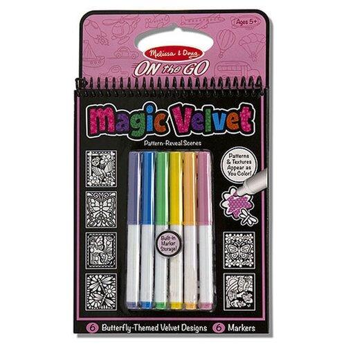 Купить Melissa & Doug Магическая бархатная раскраска Бабочки, Раскраски