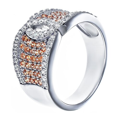 ELEMENT47 Кольцо из серебра 925 пробы с кубическим цирконием SL30165A1_KO_001_WG, размер 16.75