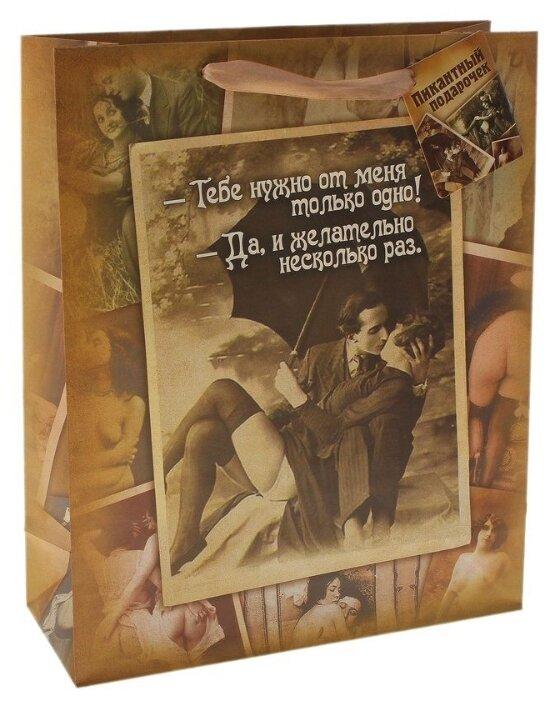 Купить Дарите счастье Подарочный пакет Пикантный подарочек 23х18 см по низкой цене с доставкой из Яндекс.Маркета (бывший Беру)