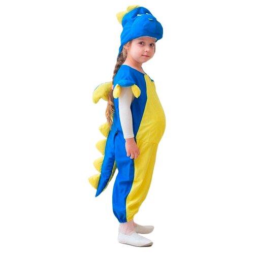 Купить Костюм Бока Дракончик, синий/желтый, размер 122-134, Карнавальные костюмы
