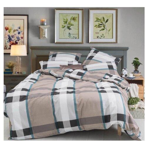 Постельное белье 2-спальное СайлиД A-185, поплин серый/коричневый постельное белье сирень постельное белье 2 спальное кпб сайлид