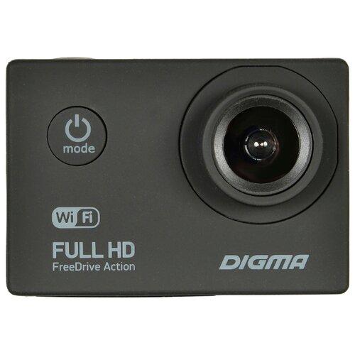 Видеорегистратор DIGMA FreeDrive Action FULL HD WIFI черный