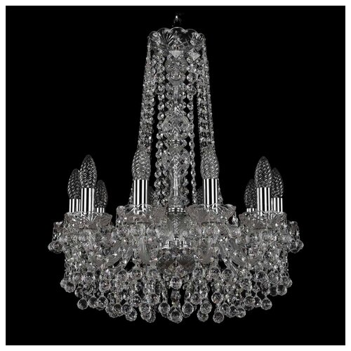 Люстра Bohemia Ivele Crystal 1409/10/160/h-60/Ni, E14, 400 Вт потолочная люстра 2001 40 60 3500 ni