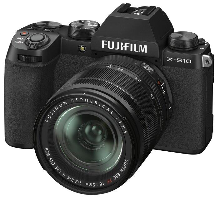 Фотоаппарат Fujifilm X-S10 Kit черный Fujifilm XF 18-55mm F2.8-4 R LM OIS фото 1