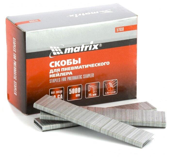 Скобы matrix 57659 для степлера, 25 мм