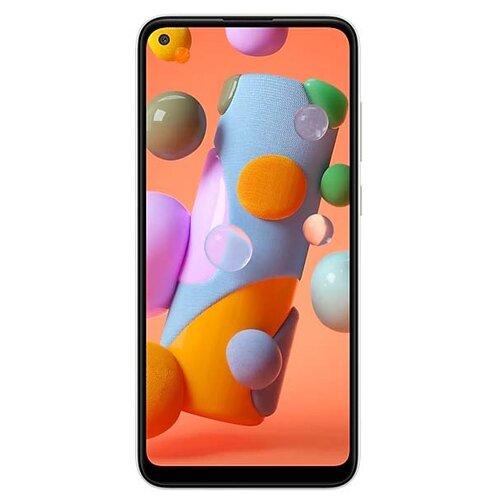 Смартфон Samsung Galaxy A11 белый (SM-A115FZWNSER) смартфон samsung galaxy s8 sm g950f 64gb жёлтый топаз