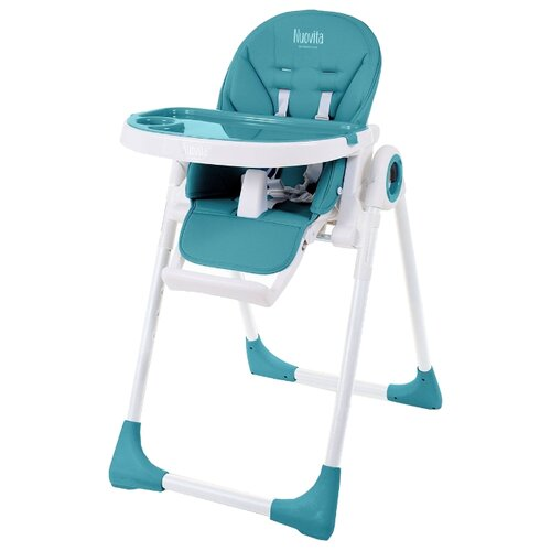 Стульчик для кормления Nuovita Lembo морской/белый стульчик для кормления babys piggy розовый