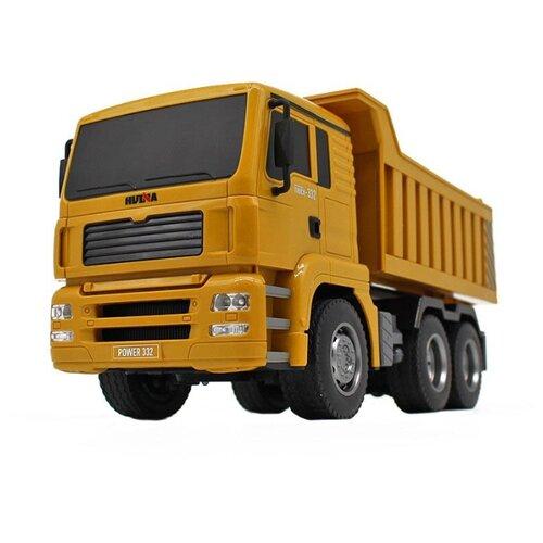Купить Грузовик HuiNa 1332 1:18 28 см оранжевый, Радиоуправляемые игрушки