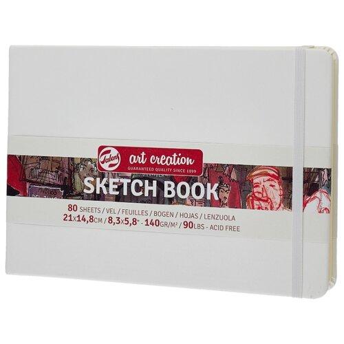 Купить Скетчбук для зарисовок Royal Talens Art Creation пейзаж 21 х 14.8 см, 140 г/м², 80 л. белый, Альбомы для рисования