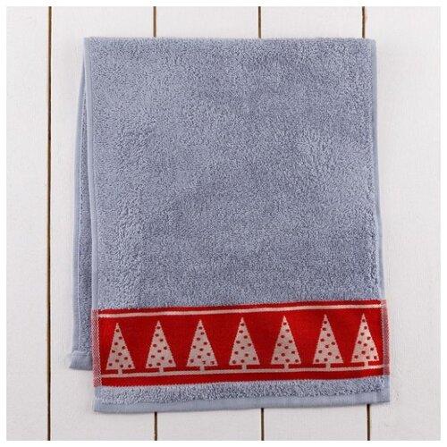 Этель полотенце Гномик для лица 30х70 см серый