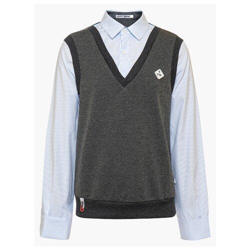Купить Рубашка Nota Bene размер 122, темно-серый, Рубашки
