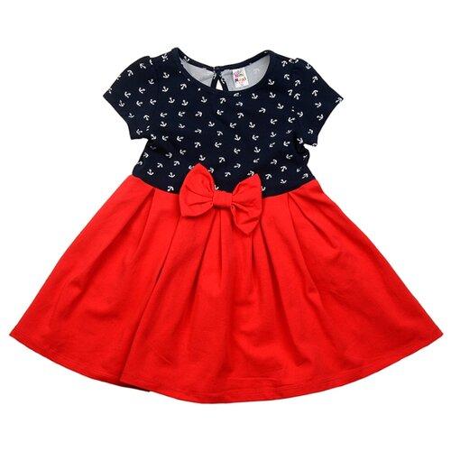 Платье Mini Maxi размер 92, темно-синий/красный платье oodji ultra цвет красный белый 14001071 13 46148 4512s размер xs 42 170