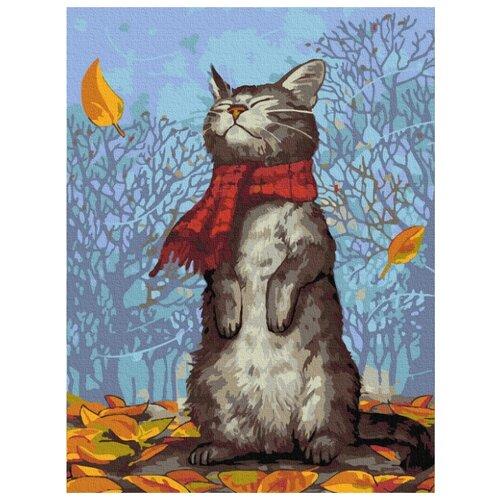 Купить Картина по номерам Molly 30х40 см Кот в шарфе, Картины по номерам и контурам