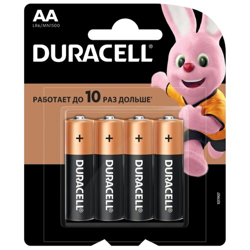 Фото - Батарейка Duracell Basic AA, 4 шт. батарейка duracell basic aa 18 шт