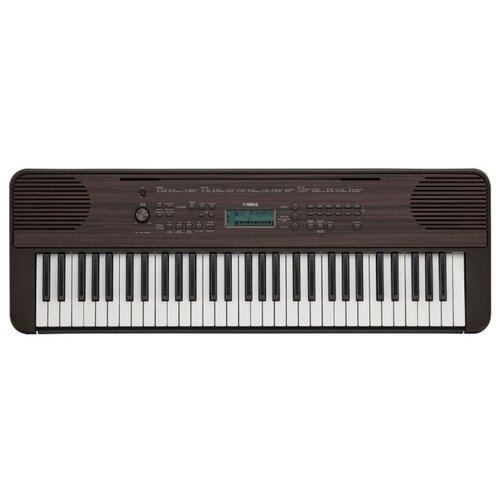Синтезатор YAMAHA PSR-E360 темный орех синтезатор yamaha psr ew300 black