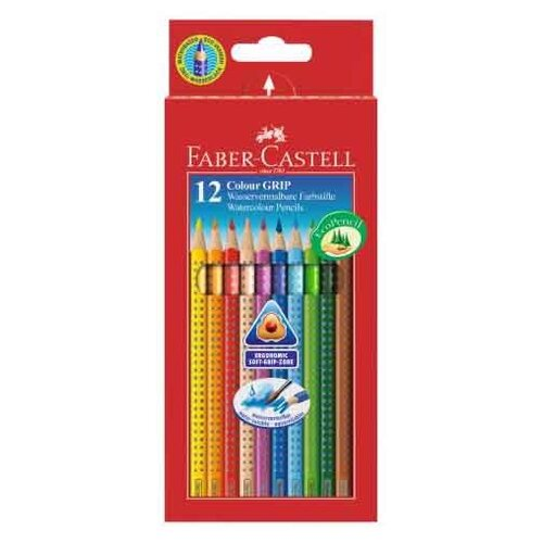 Faber-Castell Цветные карандаши Grip 2001 12 цветов (112412) faber castell ластик grip 2001 цвет синий