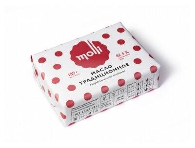 Molli Масло Традиционное сладко-сливочное 82.5%, 180 г