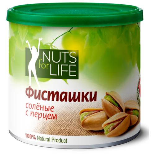 Фото - Фисташка Nuts for Life обжаренная соленая с перцем 100 г кешью nuts for life обжаренный