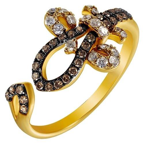цена на JV Кольцо с 50 бриллиантами из жёлтого золота AAS-3799R-KO-DN-YG, размер 17